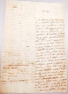 """Inicio del Manuscrito con la expresión """"Al lect"""" tachada. Archivo Regional de la Comunidad de Madrid."""