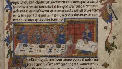 Jaume I, rey de Cataluña y Aragón. Libre dels feyts. Poblet, año 1343. (Top. Ms 1) Copia digital ? BiPaDi Versión conservada más antigua de la Crónica del rey Jaume I en catalán.