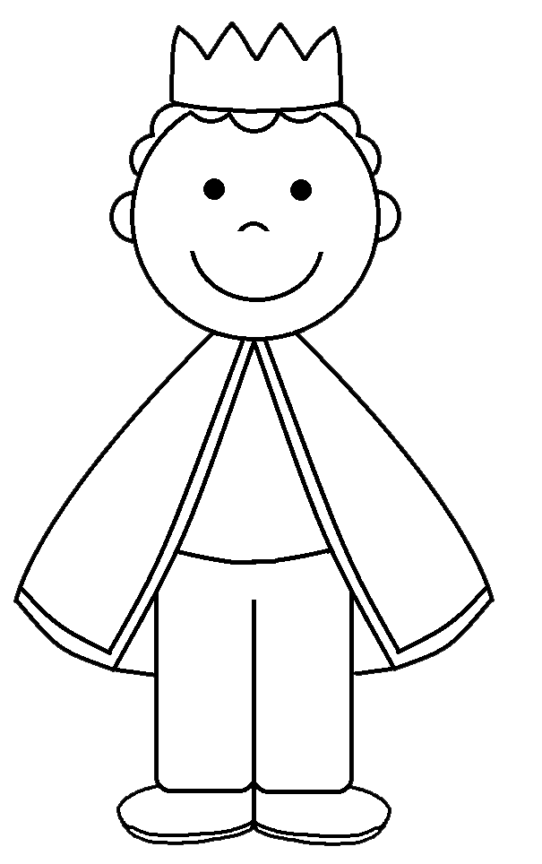 King Clipart Black And White