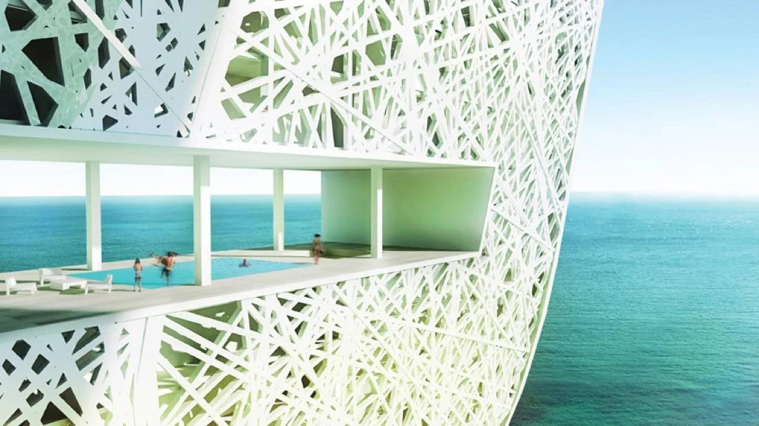Architecture Design In Dubai marina + beach towersoppenheim architecture + design, dubai