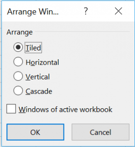 Microsoft Excel - viewing multiple worksheets
