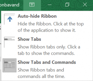 Show/hide Ribbon