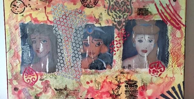 """""""Principesse ferite""""   terza opera della mostra Donne per le Donne"""