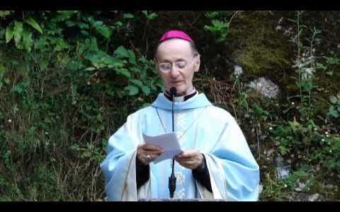 Omelia alla grotta di Lourdes