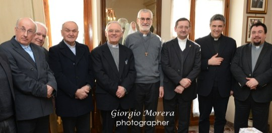 Una delegazione della curia vercellese in visita a Mons. Marco Arnolfo [Video intervista esclusiva]