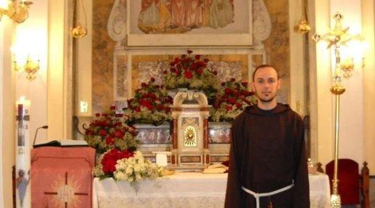 Sarà ordinato Diacono domenica 16 novembre fra Marco Felice Giugno