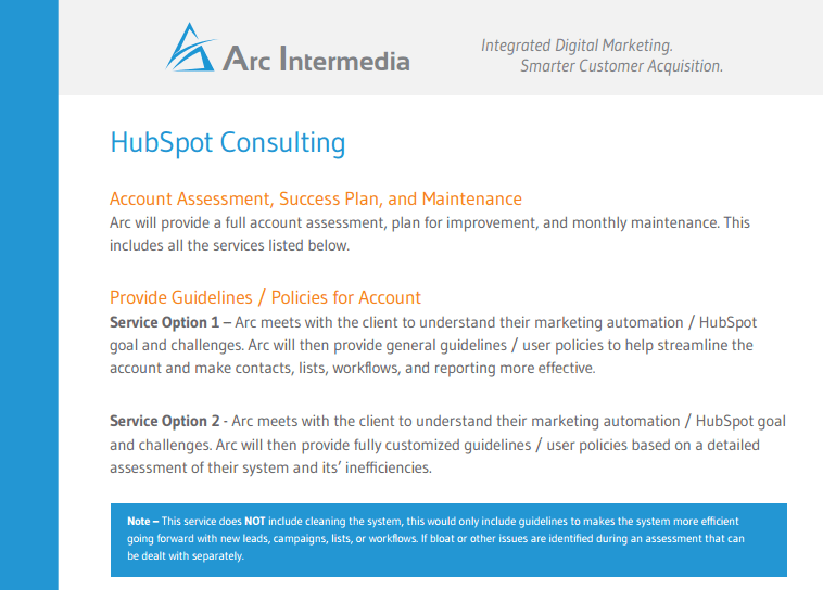 HubSpot Consulting Services