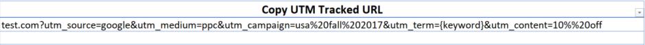 Example Custom UTM Link