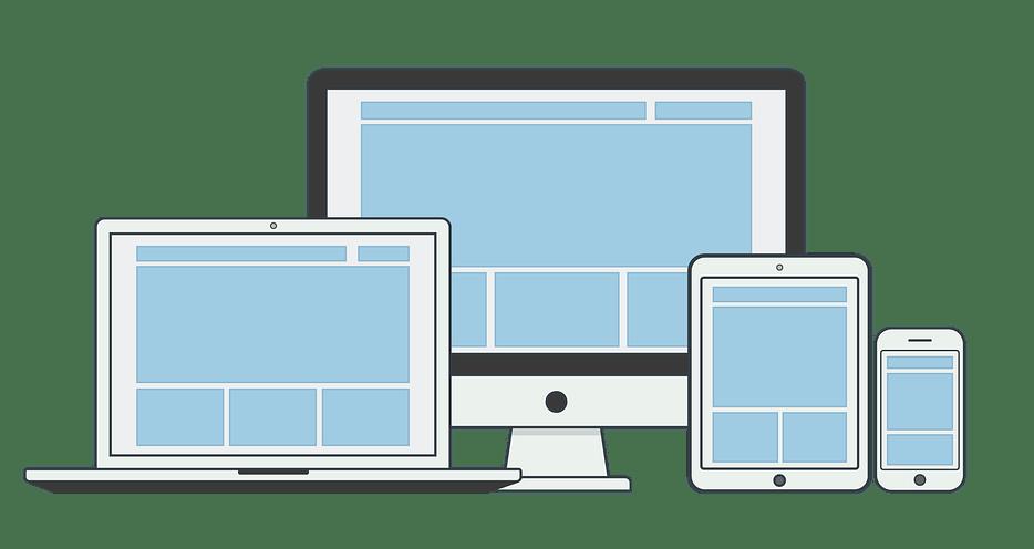 Desktop, laptop, tablet, and mobile screens.