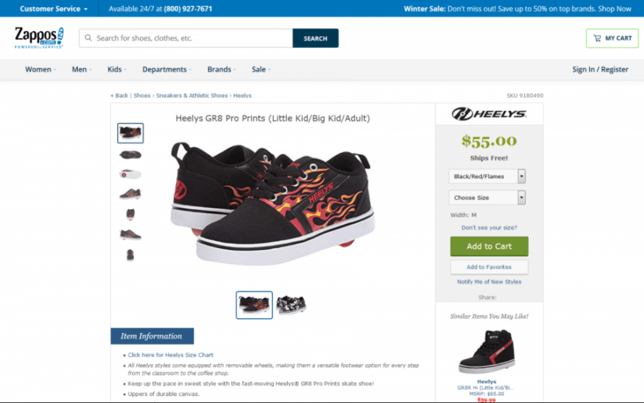 Heelys GR8 Pro Prints Sneaker Product Page on Zappos