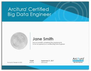 Arcitura Certified Big Data Engineer