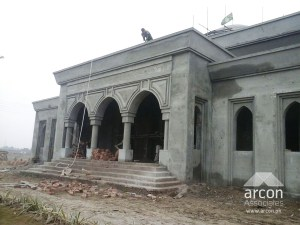 mosque front details lahore