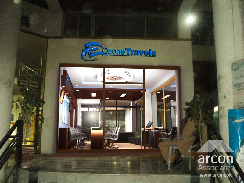 Ozone Travels Interior Office Design Gulberg Lahore