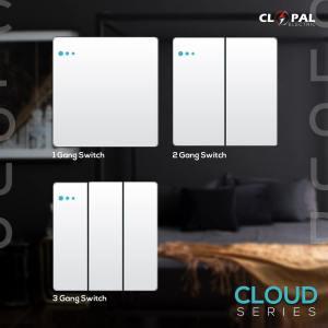 1g 2g 3gang switch cloud series clopal