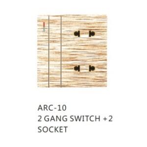 2+2 sheet ARC Clopal switch socket