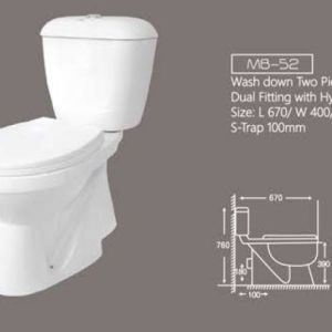 Two Piece Commode