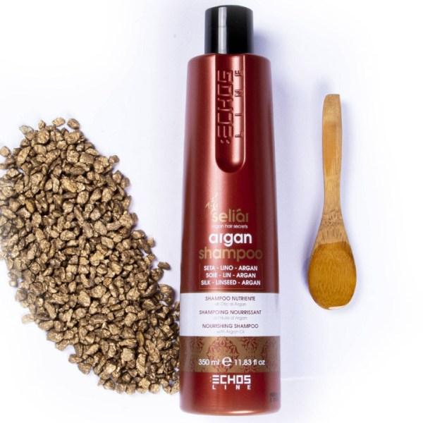 ARCosmetici nourishing shampoo argan oil 350 ml seliar nutriente semi lino proteine seta echos line