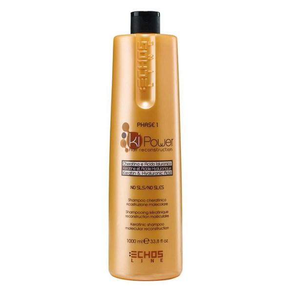 ARCosmetici shampoo cheratina acido ialuronico ricostruzione capelli echos line 1000ml 1