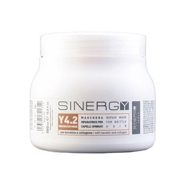 ARCosmetici sinergy maschera keratina y4 2 maschera riparatrice per capelli fragili 500ml