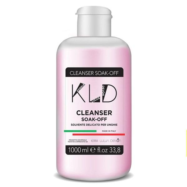 cleanser soak off 1000 ml per semipermanente e gel uv kld