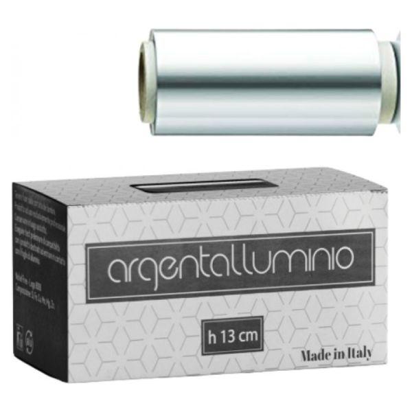 argentalluminio carta stagnola argento 13 cm 400gr con astuccio