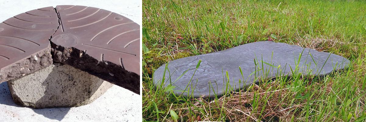 Betonformen für Trittsteine und Pflastersteine