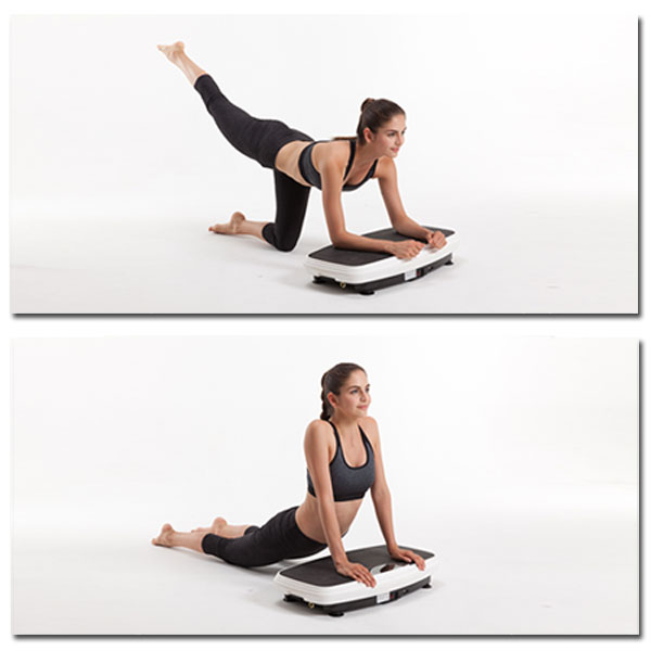 Vibrationsplatte - Übungen, Gebeugte Haltung