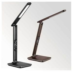 LED Schreibtischlampe, moderne Leseleuchte im Lederoptik, Beitragsbild