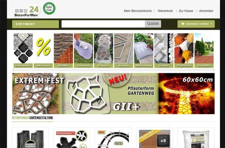 BetonForMen24, ein Onlineshop für Beton-, Giess- und Schalungsformen, Farbpigmente und Zusatzmittel für Beton, Gips und Mortel