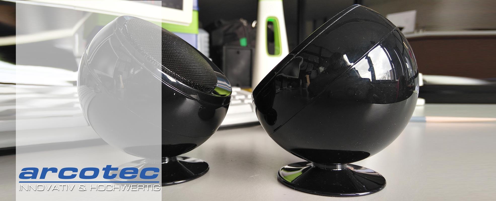 @tec TWS drahtloses Bluetooth Lautsprechersystem, True Wireless Speaker Set von arcotec