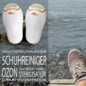 Ozon-Schuhreiniger - Innovatives Produkt mit neuartigem Ozon-Reinigungssystem zur Desinfektion, Geruchsneutralisierung & Entfeuchtung
