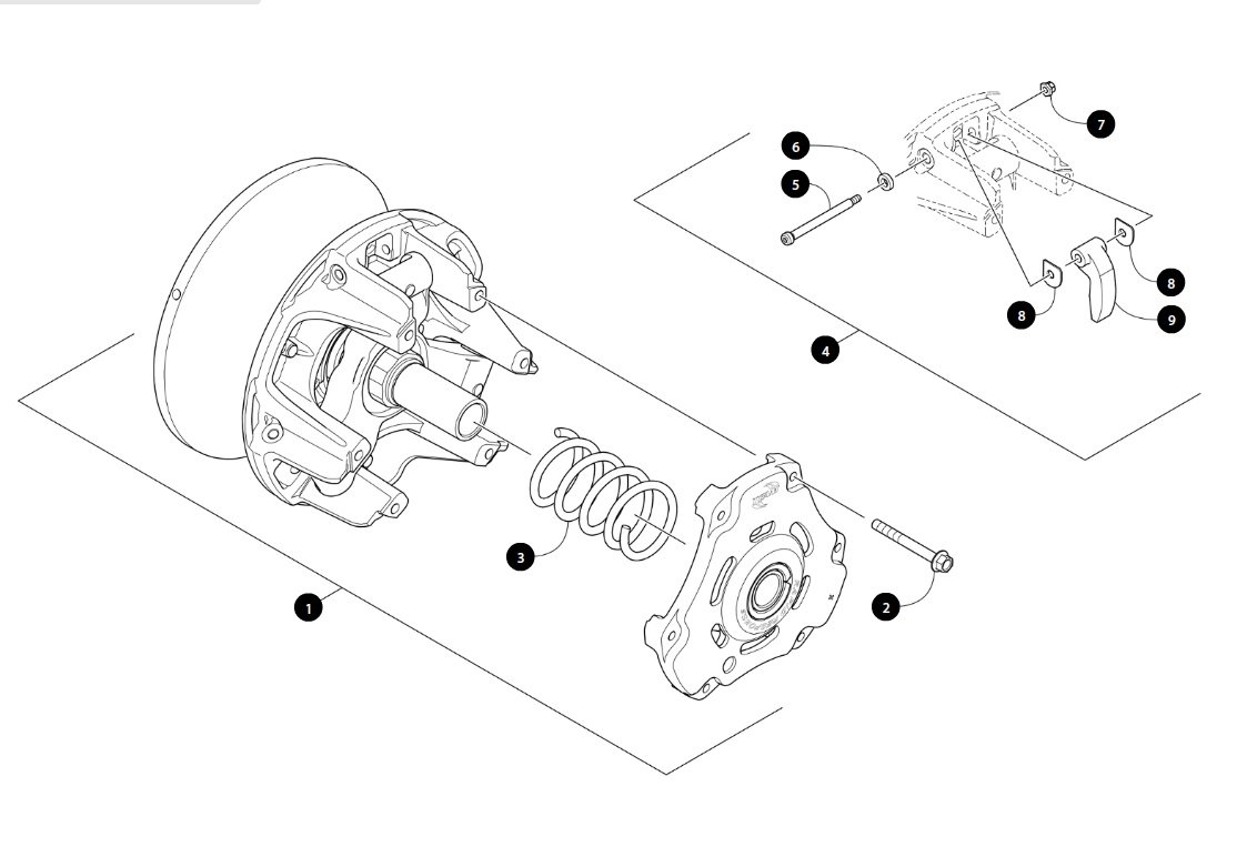 Snowmobile Primary Clutch Diagram