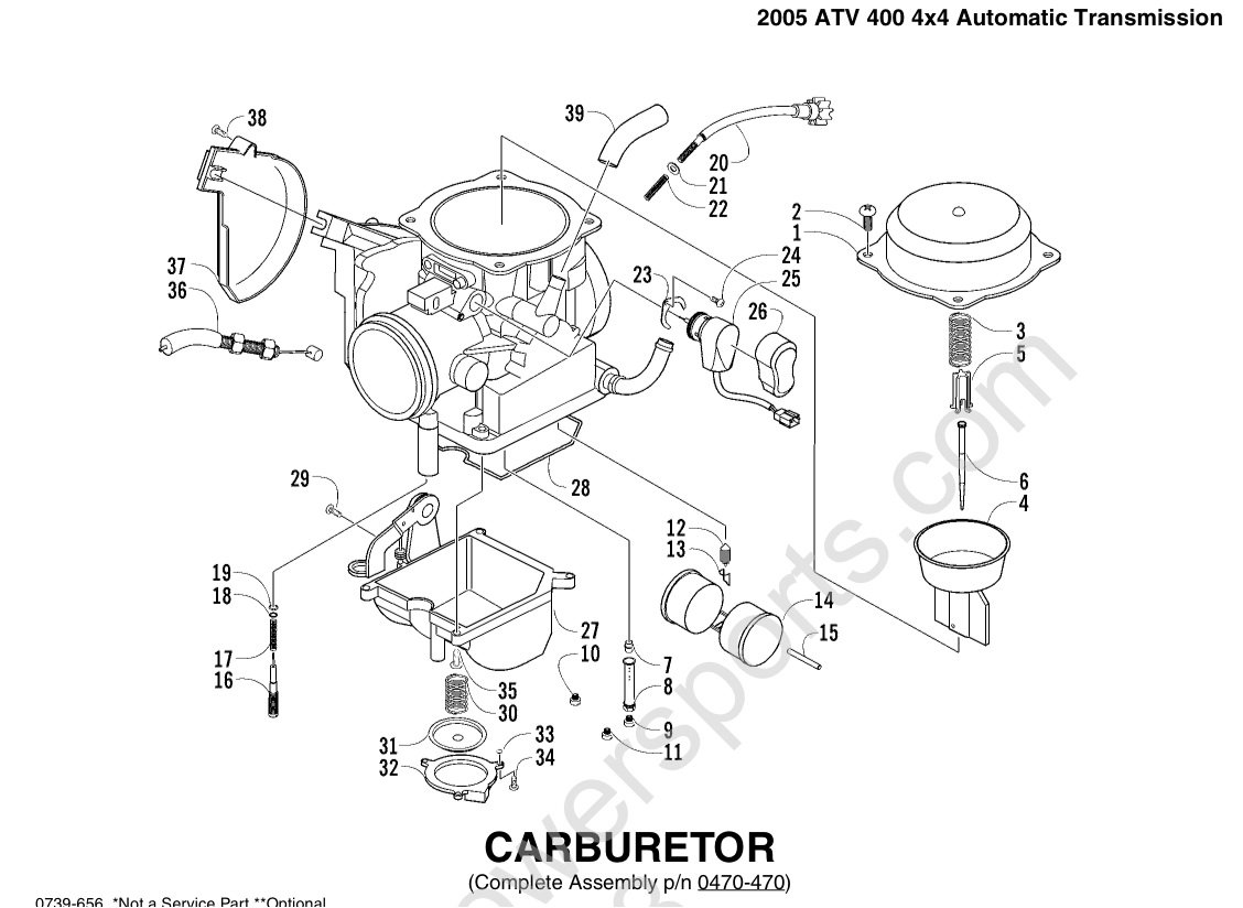 Polaris Trail Boss 250 Carburetor Diagram