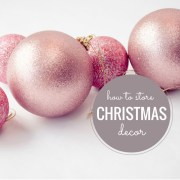 A Solution for Storing Christmas Decorations