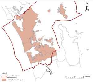 新大奥克兰地区边界(点击大图)