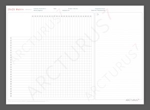 25×25 Matrix – Professional Quality Wallchart