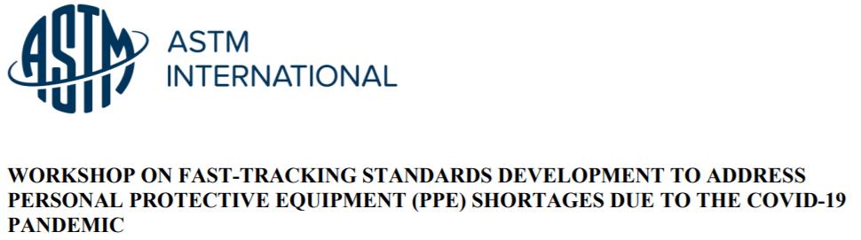 Registration Now Open for ASTM Virtual Workshop on COVID-19 Standards