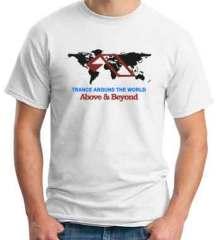 Above Beyond Trance Around The World T-Shirt Crew Neck Short Sleeve Men Women Tee DJ Merchandise Ardamus.com