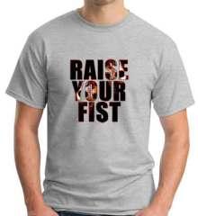 Angerfist Raise Your Fist T-Shirt Crew Neck Short Sleeve Men Women Tee DJ Merchandise Ardamus.com