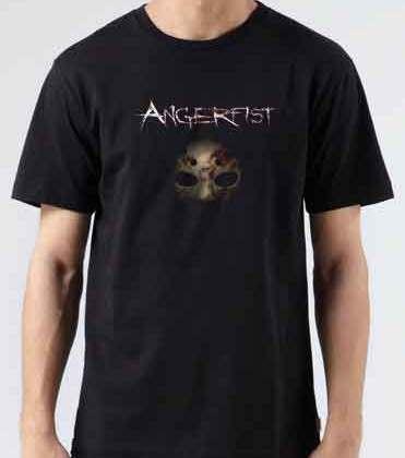 Angerfist T-Shirt Crew Neck Short Sleeve Men Women Tee DJ Merchandise Ardamus.com