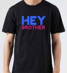 Avicii Hey Brother T-Shirt Crew Neck Short Sleeve Men Women Tee DJ Merchandise Ardamus.com