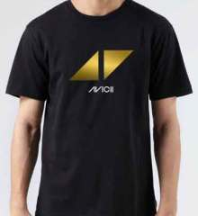 Avicii Triangles Play T-Shirt Crew Neck Short Sleeve Men Women Tee DJ Merchandise Ardamus.com