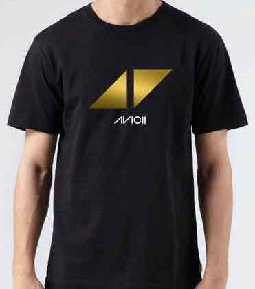Avicii Triangles Play T-Shirt Crew Neck Short Sleeve Men Women Tee DJ Merchandise Ardamus.com