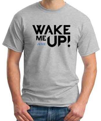 Avicii Wake Me Up T-Shirt Crew Neck Short Sleeve Men Women Tee DJ Merchandise Ardamus.com