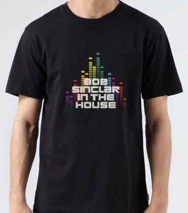 Bob Sinclar In The House T-Shirt Crew Neck Short Sleeve Men Women Tee DJ Merchandise Ardamus.com