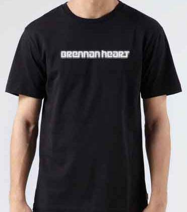 Brennan Heart Logo T-Shirt Crew Neck Short Sleeve Men Women Tee DJ Merchandise Ardamus.com