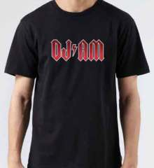DJ AM Logo T-Shirt Crew Neck Short Sleeve Men Women Tee DJ Merchandise Ardamus.com