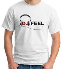 DJ Feel Logo T-Shirt Crew Neck Short Sleeve Men Women Tee DJ Merchandise Ardamus.com