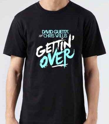David Guetta Getting Over T-Shirt Crew Neck Short Sleeve Men Women Tee DJ Merchandise Ardamus.com