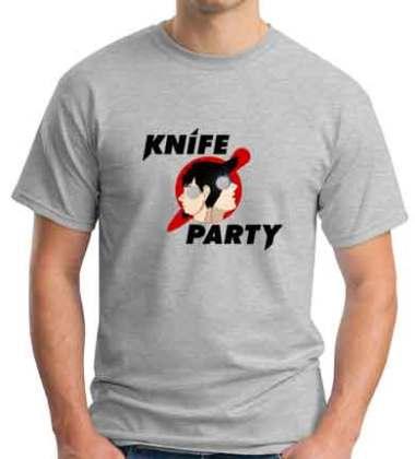 Knife Party T-Shirt Crew Neck Short Sleeve Men Women Tee DJ Merchandise Ardamus.com